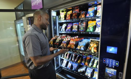 Snack vending machines in Southern California including Central Coast and Bakersfield